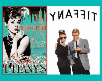 BREAKFAST AT TIFFANY'S • Poster Prints On Sturdy Non Fade Paper • Four Styles In Five Sizes Available • Classic Mid Century Art & Design !!!