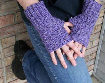 Fingerless Gloves--Hand Crocheted in Luxurious Alpaca/Wool Yarn