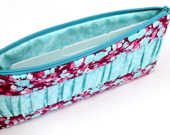 SALE - Cash Budget System - Pencil Pouch - Cosmetic Case - Zippered Pouch - 6 Dividers - READY to SHIP