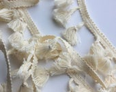 Cotton Tassel Fringe - Natural - Home Decor Quality