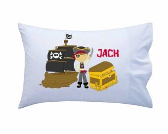 Personalized Pillowcase, Pirate Pillowcase, Standard Personalized Pillowcase, Personalized Gift, Boys Gift, Girls Gift, Birthday Present