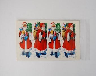 Victorian Scraps Santa, Made in England Die Cut Victorian Scraps, Vintage Ephemera, Vintage Christmas Santas