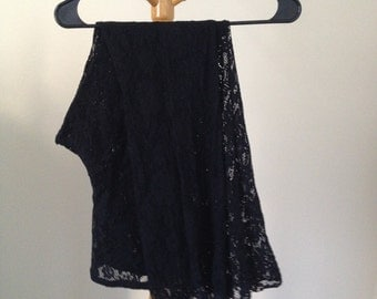 black lace bell bottom wide legged pants flares small medium lace legging 60s hippie flower girl grunge black industrial