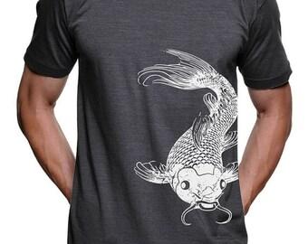 Koi Fish T-Shirt Botanical Garden Koi Pond Japanese Fish Tshirt Mens Tshirts Gifts For Him Graphic Tshirts Animal T-Shirts Zen Gifts