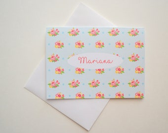 Bridesmaid's Gift - Personalized Stationary - Custom Stationery - Note Cards - Set of 8