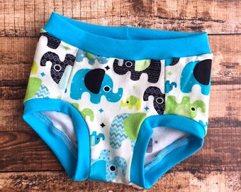 Elephant underwear/ elephant/ Toddler underwear/ Potty training pants/ Potty training/ Eco friendly/ Trainers/ Potty training underwear