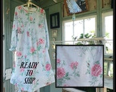 1 Free shipping in US-Small-XL-SADIE- Long Sleeve Nightgown, Premium Cotton,  PinTucked, Waltz Length, Vintage Inspired