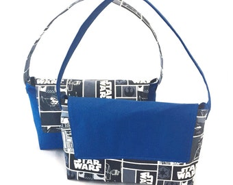 Star Wars Purse, Star Wars Handbag, Top Handle Bag, Small Purse, Lightweight Purse, Fabric Purse, Purse with Pockets, Arm Bag, Ready to Ship