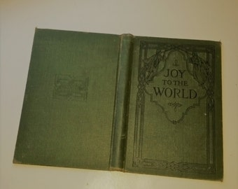 1919 embossed book boards green Hymnal covers with spine Joy to the World Mixed media paper art supplies