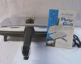 Vintage Sunbeam Automatic Electric Party Grill and Instruction Book