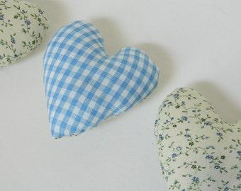 Blue Heart Sachets - Dried Lavender Sachets - Floral Hearts - Baby Shower Gift - Bridal Shower - Secret Pal Gift - Mother's Day Gift Topper