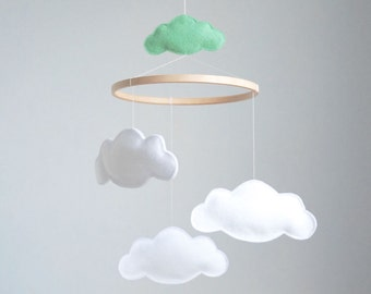 Cloud Baby Cot Mobile  - Custom Colors Available