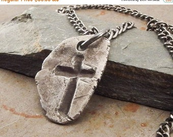 SPRING SALE 25% OFF Gothic Christian Fine Silver Cross Pendant Necklace Handmade Fine Silver Jewelry for Men or Women