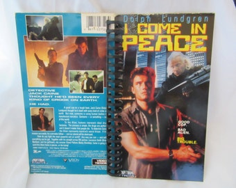 Dolph Lundgren I Come In Peace VHS Notebook