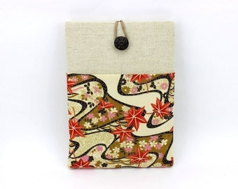 iPad Pro Sleeve, Gadget Cover, Kimono Tablet Sleeve, Maple Leaves Pale Yellow