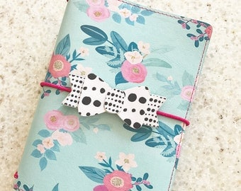 Pocket Sized Travelers Notebook Cover, exclusive design