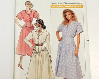 Butterick 6088 Sewing Pattern, J G Hook Designer Couture Dress Misses Size 8/10/12, Fitted Midriff Flared Skirt,Vintage Uncut itsyourcountry