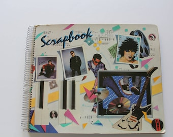 Vintage 80s Themed Scrapbook Unused 1985