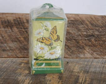 Vintage Jasco Match Holder Butterfly Daisy Design