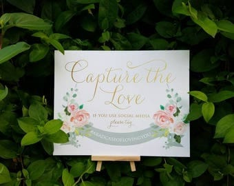 personalized Instagram wedding sign, custom wedding hashtag sign, if you instagram help us capture the love, wedding reception decor, social