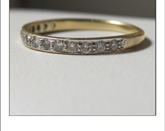 Antique 14k Diamond 2 Tone .30 Ct. Wedding Band