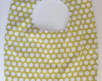 handmade polka dots baby bib