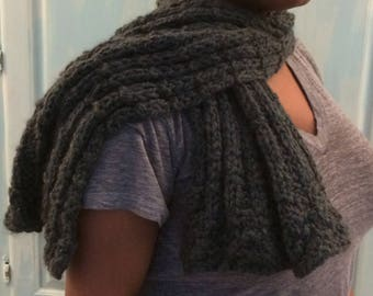 Warm Ribbed Winter Scarf