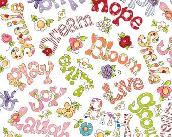 Happy words by Quilting Treasures