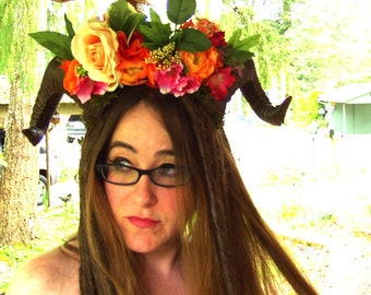 CUSTOM Costume horns, Cosplay, Faerie, festival, Halloween