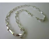 SALE NAPIER Geometric Mod Silver tone Chain Link Necklace