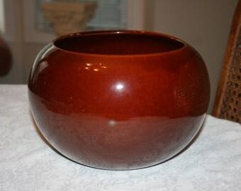 Vintage Haeger M R Potts Design USA Pottery Indoor Planter Brown Glazed