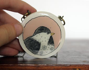 Large Bird Medallion Necklace