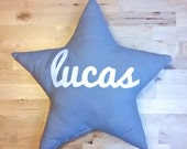 name star shaped pillow, personalized baby pillow, custom baby gift, star shaped cushion,star nursery decor, baby name pillow, baby pillow