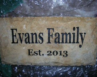 On Sale) Custom Engraved - Carved Gold Paving Stone, gift for father's day, mother's day, memorial