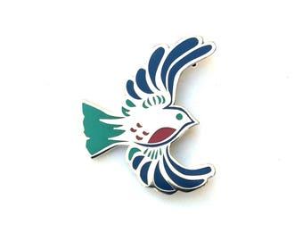 Bird Enamel Pin *Silver*