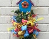 Birdhouse Shovel Door Wreath Hangers, Summer Wreath, Shovel Wreath, Door Hanger