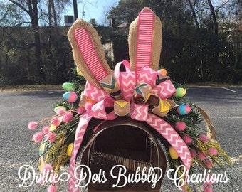 Bunny Rabbit Mailbox Topper, Easter Bunny Mailbox Topper, Mailbox Topper, Easter Decoration