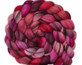Hand dyed roving - 21.5μ Merino wool combed top spinning fiber - 4.1 ounces - Word of Mouth 1