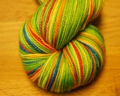 Lucky AND Charming...Toula Sock, Self Striping, 80/20 Superwash Fingering Sock Weight