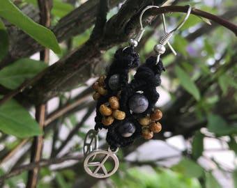 Macrame Beaded Earrrings, Boho Style Earrings, Hippie Earrings, Macrame Beaded Jewelry, Boho Style Jewelry, Dream Catchers