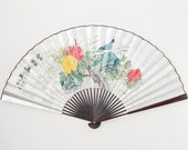 Hand Painted Large Japanese Wall Fan
