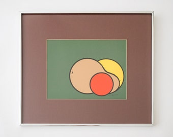 74 Abstract Fruit Print