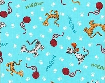 What Pet Should I Get by Dr Seuss - Cats on Blue from Robert Kaufman by Seuss Enterprises