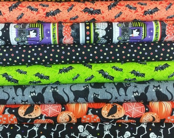 Glow In The Dark Fangtastic Bundle from Henry Glass (1 Panel Plus 14 Fabrics = 15 Fabrics Total)