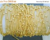 10% Sale Gemshow 10ft Gold Fill Beaded Satellite Chain -- BULK 10 feet  (0444y)