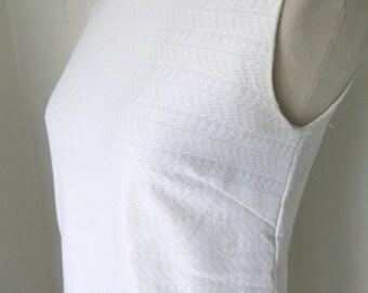 White 60s Mod minidress