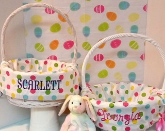 PRE EASTER SALE Basket Liner Easter Basket Liner Personalized Easter Basket Liner Monogrammed Easter Basket Liner - Choose from 32 Patterns
