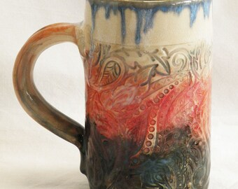 paisley 16oz ceramic coffee mug 16C024