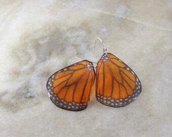 Monarch Butterfly Wing Resin Earrings