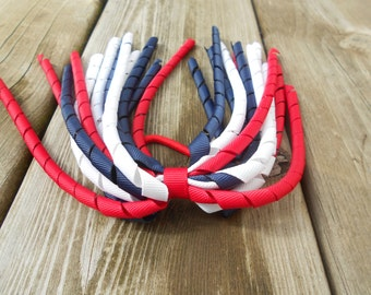 Red, White, and Blue Patrioric 4th of July Korker pony streamer